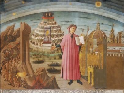 Affresco raffigurante Dante