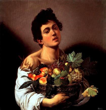 """""""Fanciullo con canestro di frutta"""" da Wikipedia"""