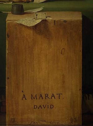 La morte di Marat David lapide