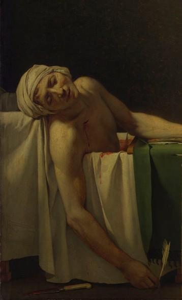 La morte di Marat posizione