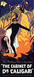 """""""Il gabinetto del dr. Caligari"""" locandina"""