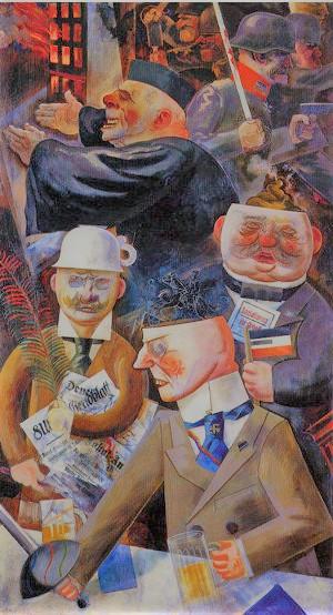 """I pilastri della società"" G. Grosz"