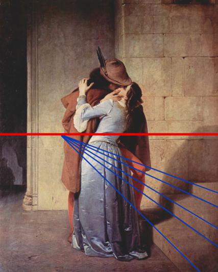 schema prospettico bacio